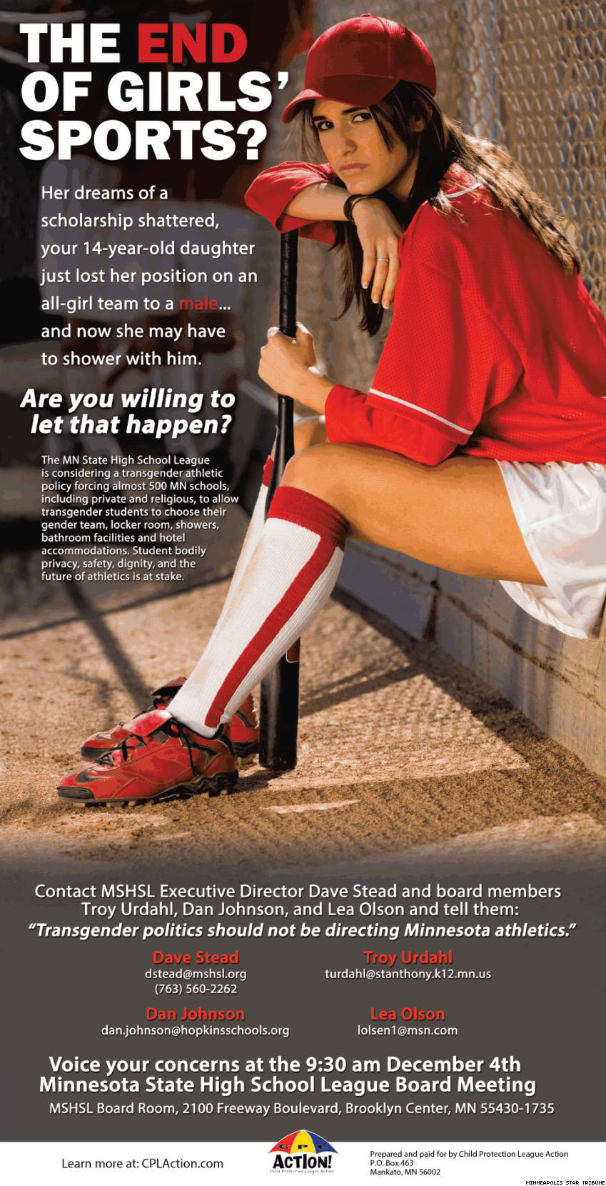 Second Transphobic Ad Hits Press as Minn. Debates Student Athlete Policy