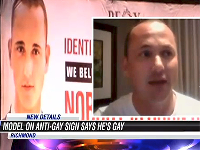 WATCH: Model on Va. 'Ex-Gay' Billboard Is Gay, Not a Twin