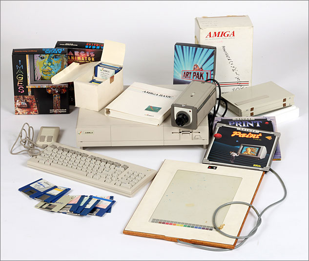4 Commodore Amiga Computer Equipment Used By Andy Warhol 1985 86X633 0