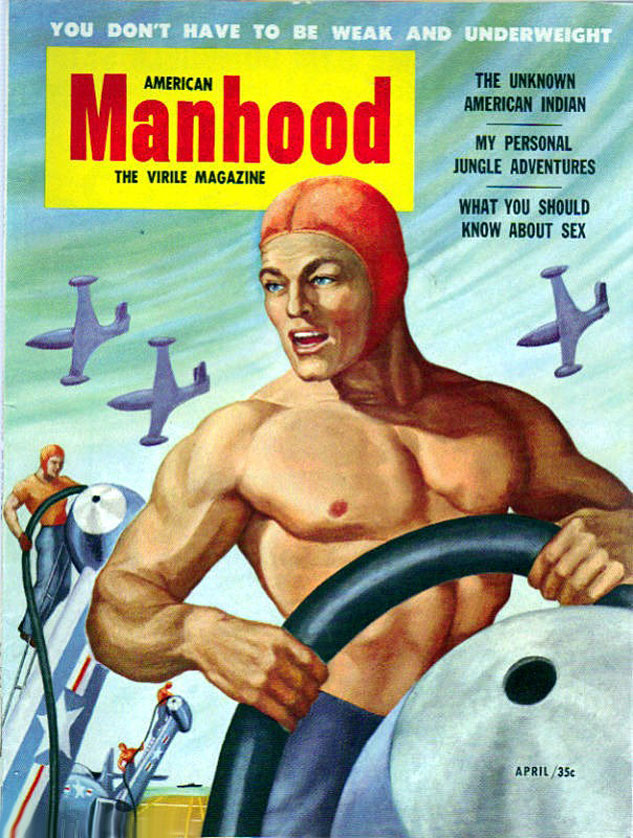 AMERICAN MANHOOD April 1953 Peter Poultonx633 0