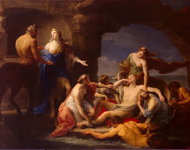 Batoni Pompeo Thetis Takes Achilles From The Centaur Chironx633 0