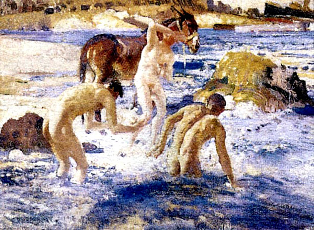 George Lambert Anzacs Bathing In The Seax633 0