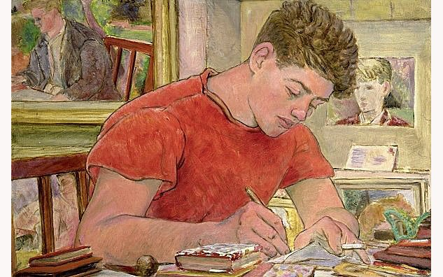 John Tanton Writing In My Studio 1955x633 0