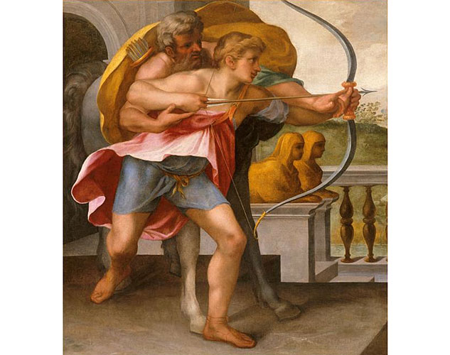 Toussaint Dubreuil The Education Of Achilles 16th Centuryx633 0