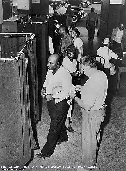 Voters At The Voting Booths In 1945X433 0