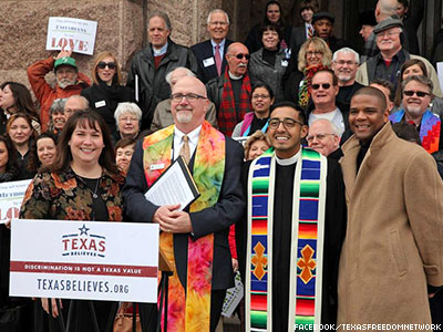 Faith Leaders Rally for Marriage Equality in Texas