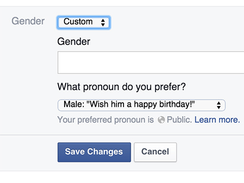 Facebook Now Allows Users to Define Custom Gender