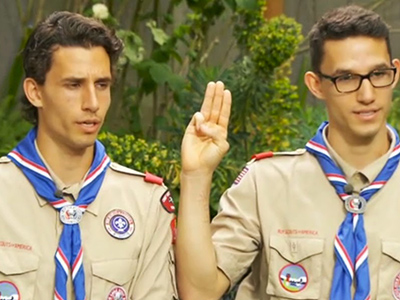 Eagle Scout Starts Petition to Keep Gay Twin in Scouting