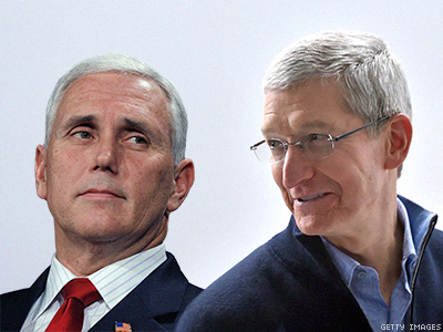 Tim Cook's Apple and Mike Pence's Indiana: One's the Future, the Other the Past
