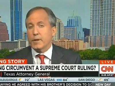 WATCH: Texas Attorney General Unsure If He'll Listen to Supreme Court on Marriage