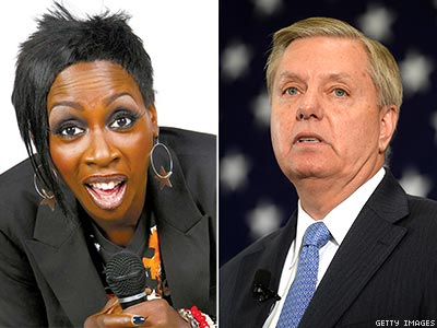 WATCH: Why Is Sen. Lindsey Graham Single? According to Gina Yashere, 'He's Gay'