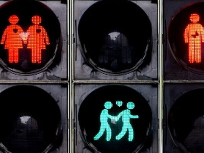 Same-Sex Couples Simply Glow in Munich's Gay-Themed Traffic Lights