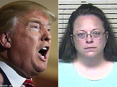 Donald Trump Takes a Day to Get Up to Speed on Kim Davis
