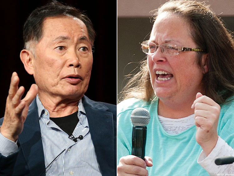 George Takei and Kim Davis