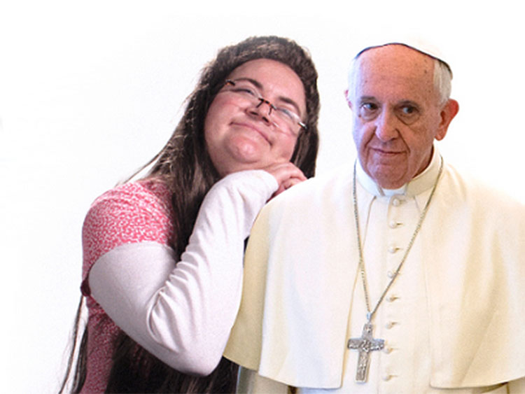 Kim Davis and Pope on Funny or Die