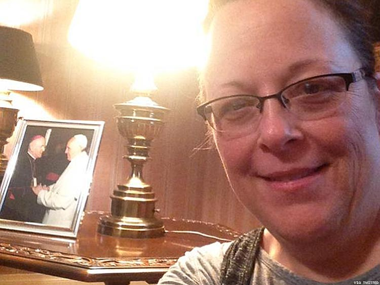 A selfie of Kim Davis which Liberty Counsel claims she took inside the Vatican embassy