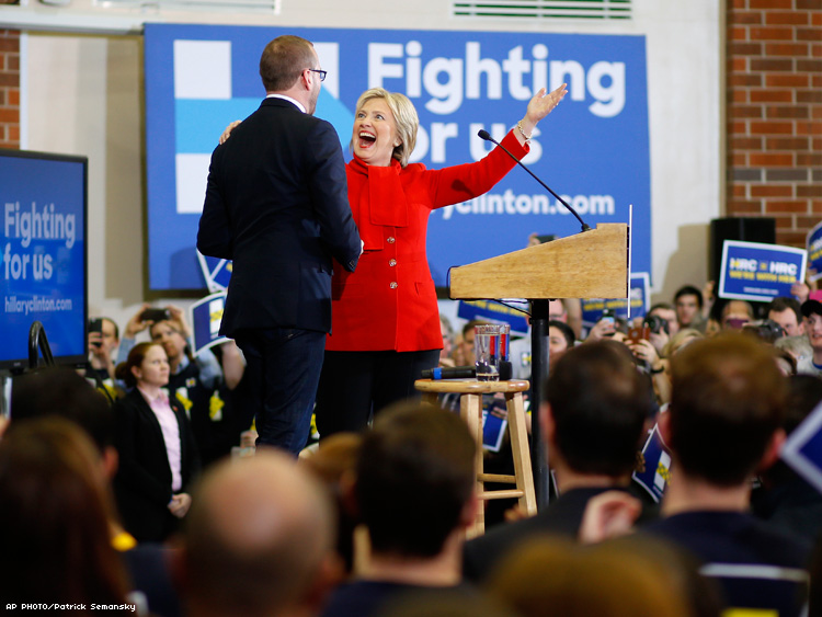 Chad Griffin and HIllary Clinton