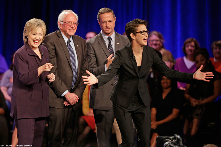 Rachel Maddow with Democratic candidates