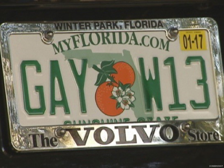 WATCH: Florida's New 'Gay License Plates Have Residents ...