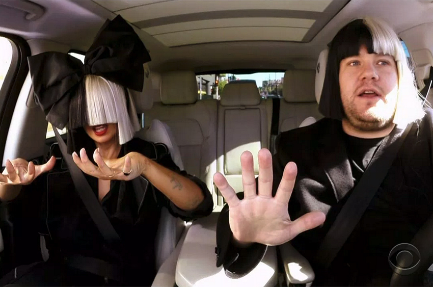 Watch Sia Explains Her Wig During Car Karaoke With James Corden