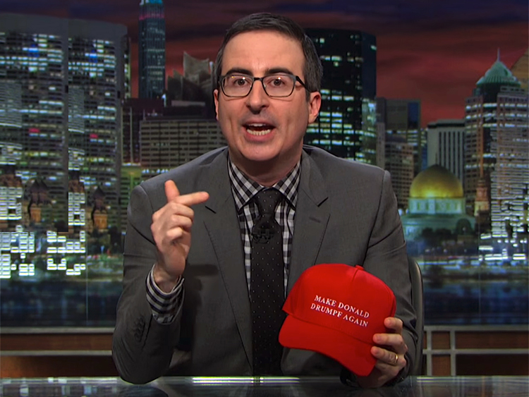 WATCH: John Oliver Says 'Make Donald Drumpf Again' on Super Tuesday