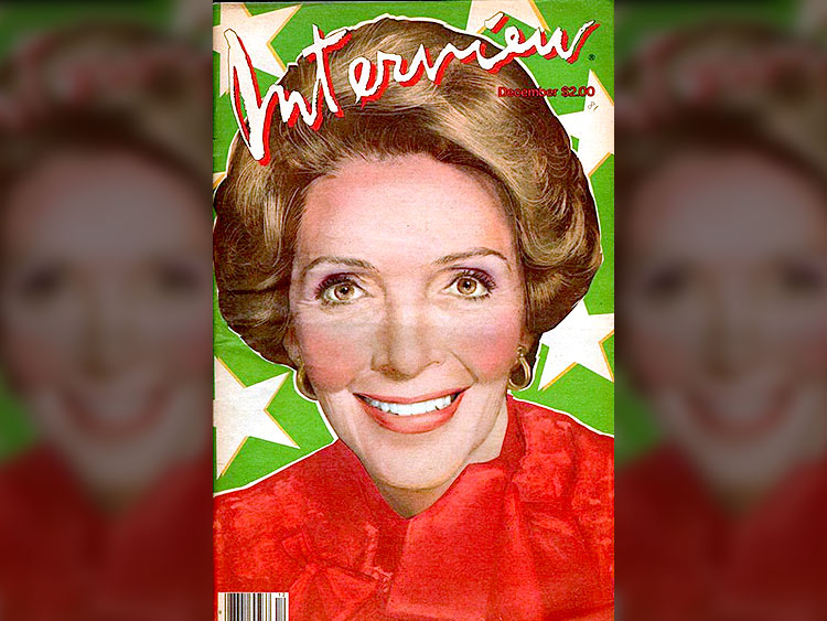 NANCY REAGAN INTERVIEW COVER