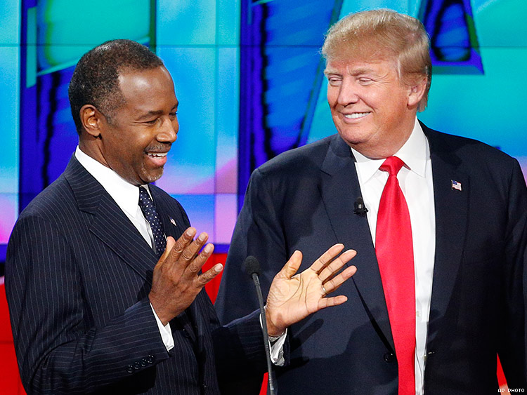 Image result for   Ben Carson AND TRUMP
