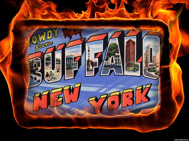 BUFFALO ON FIRE