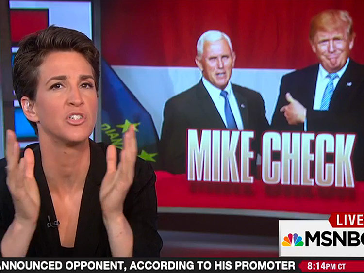 Rachel Maddow: Mike Pence 'Choked' Under National Spotlight (Video)