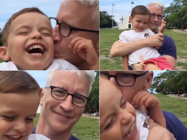 Anderson Cooper and Nephew