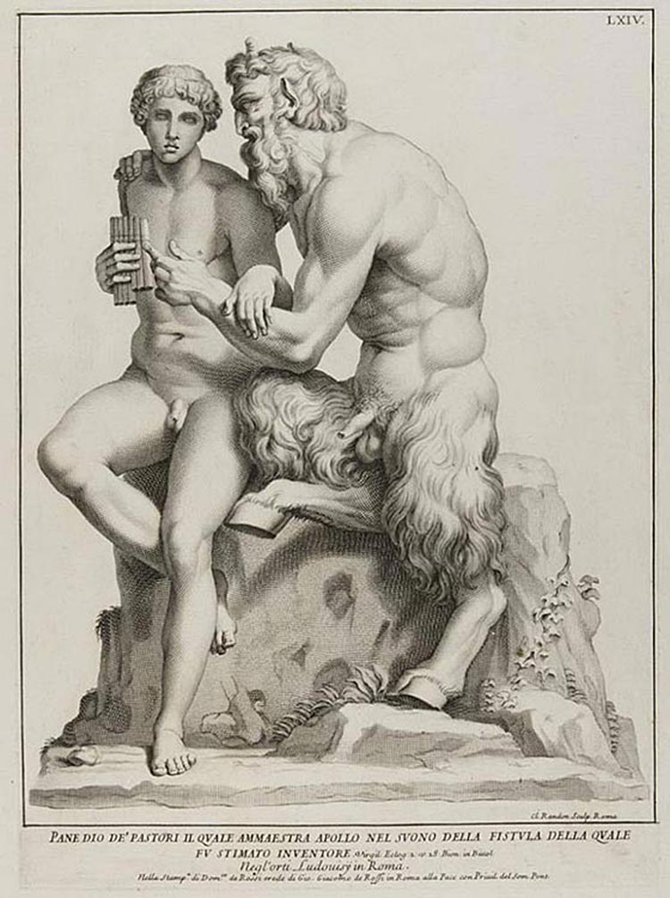 0de Rossi Domenico Pan Apollo Cesi Rome C1704 Engraving Pm
