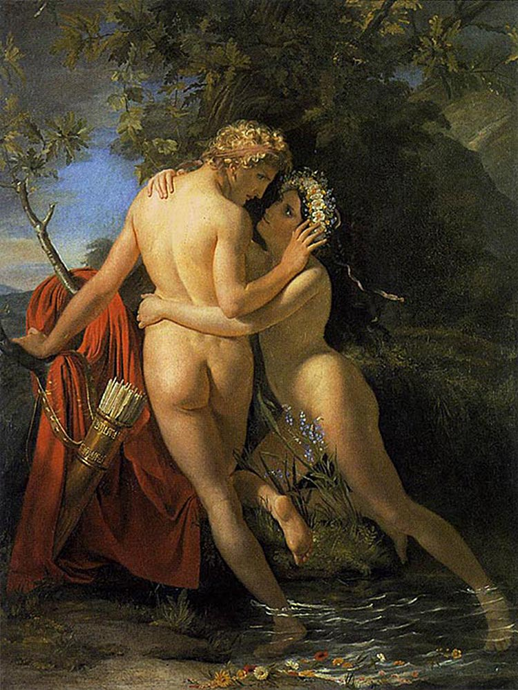 Francois Joseph Navez The Nymph Salmacis And Hermaphroditus