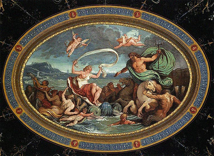 Giani Felice   The Marriage Of Poseidon And Amphitrite   1802 1805