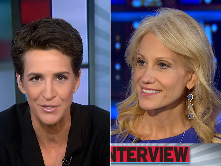 Rachel Maddow and Kellyanne Conway