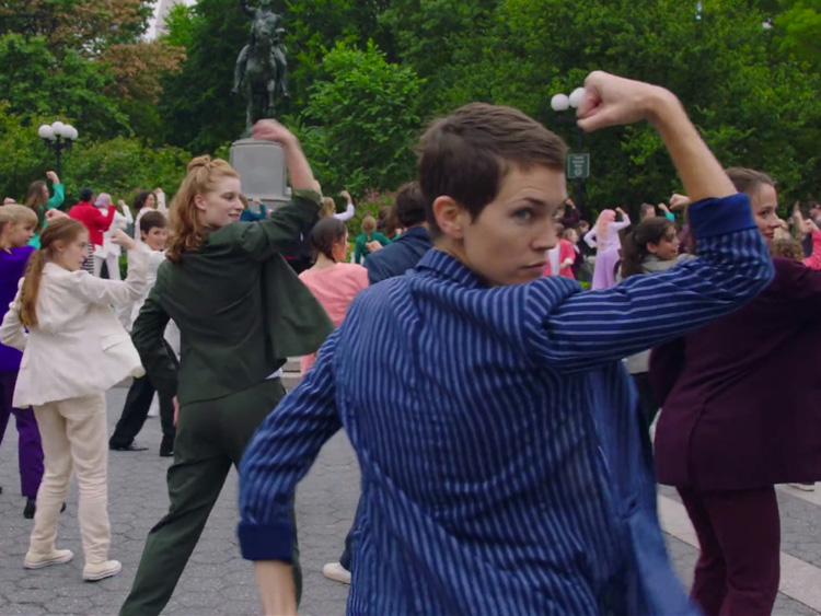 Watch the Pantsuit Flash Mob Two Women Made to Inspire Your Vote