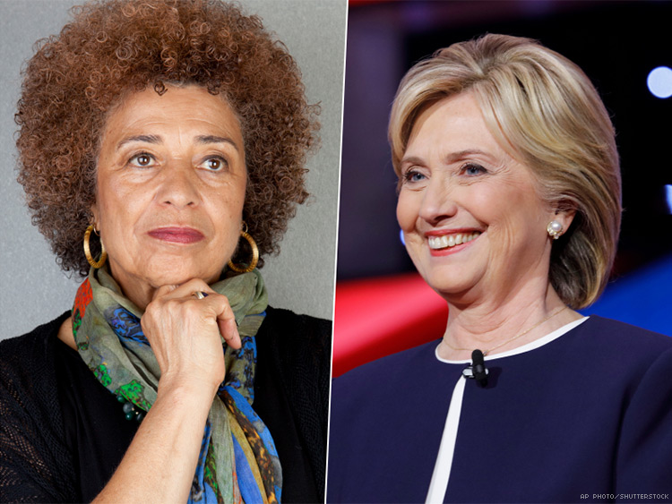 Angela Davis and Hillary Clinton