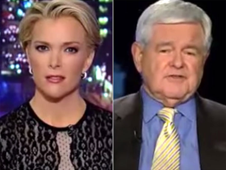 Trump congratulates Gingrich for telling Megyn Kelly she's fascinated with sex