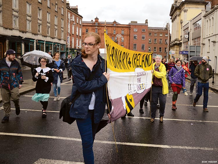 Non-Binary+ Ireland at the March for Choice in September 2016
