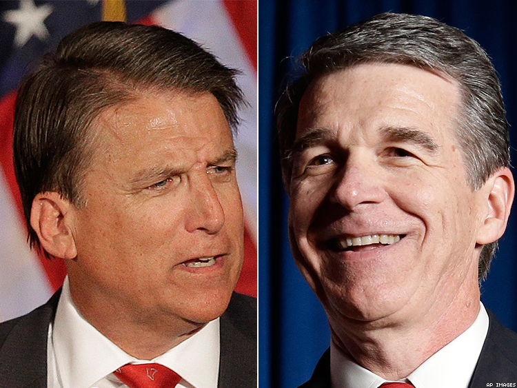 Pat McCrory and Roy Cooper
