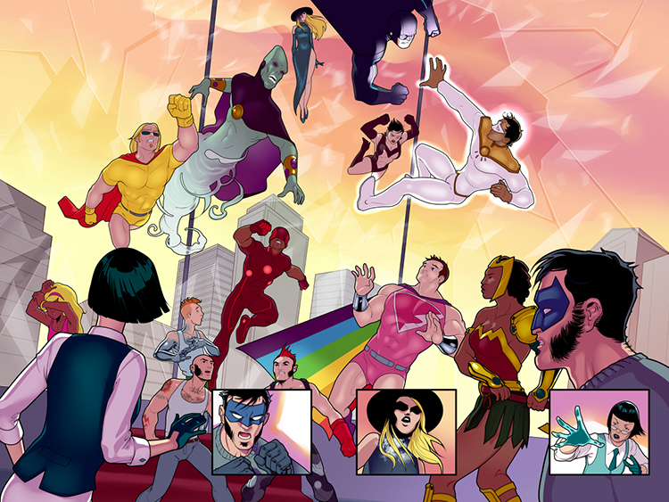 Meet The Pride, an entire team of queer superheroes!
