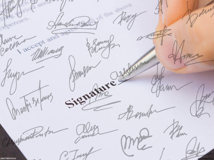 how to create my signature to my name