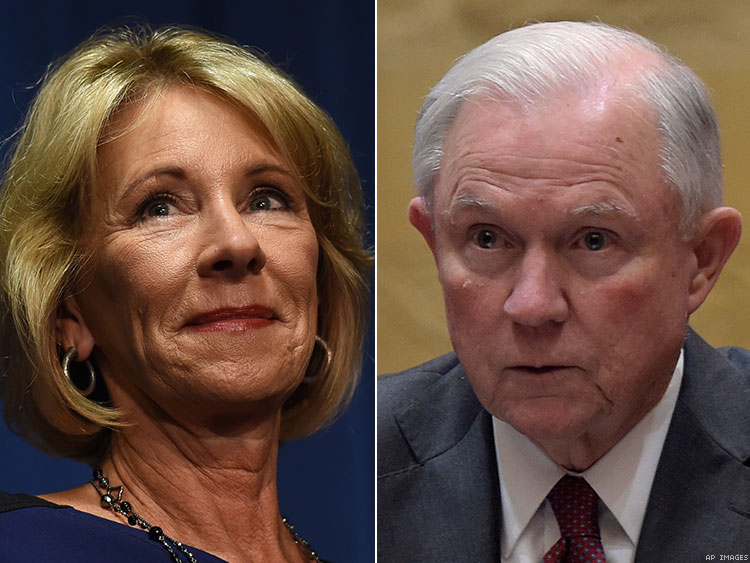 DeVos and Sessions