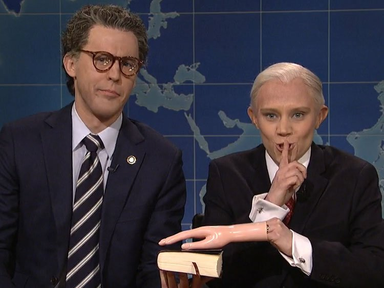 Kate McKinnon's Sessions Gets Oily With 'Al Franken' On 'SNL'