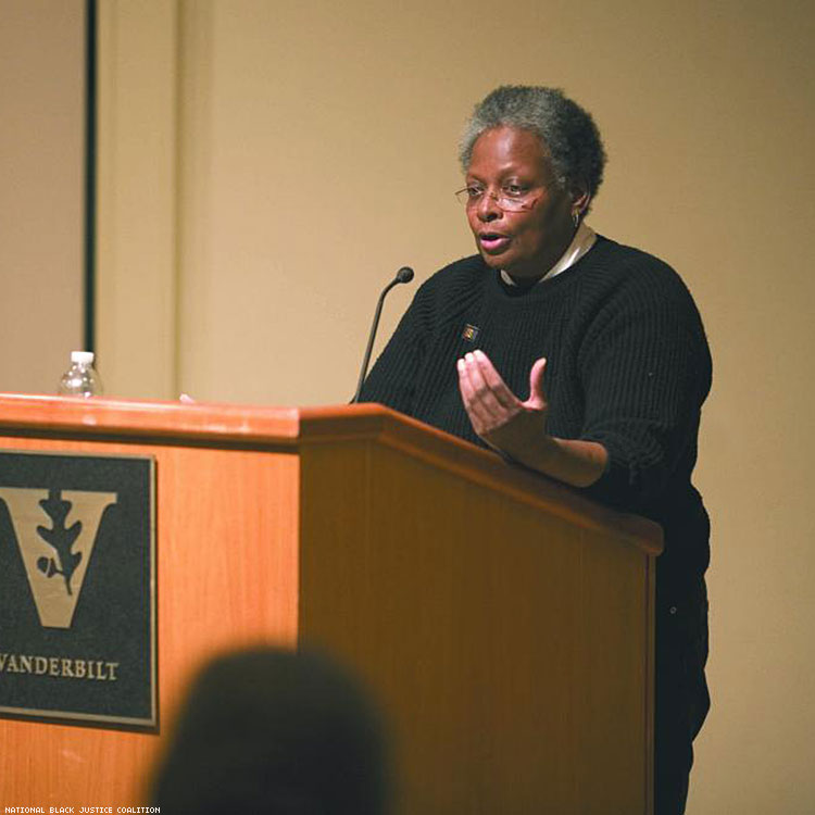 Mandy Carter At Vanderbilt National Black Justice Coalition