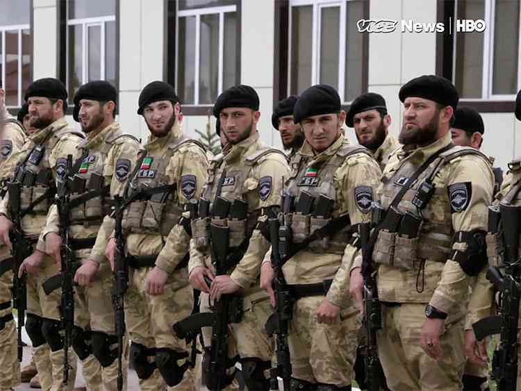 Chechen guards