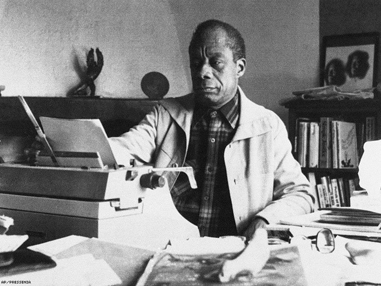 James Baldwin in France in 1983
