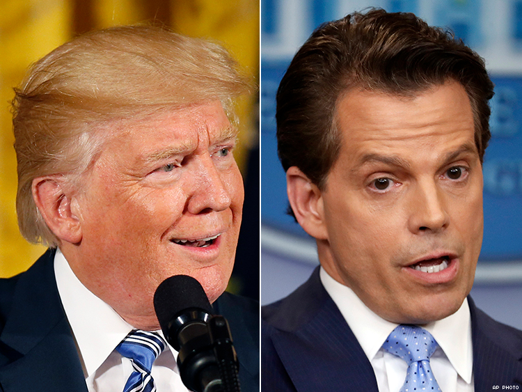 Donald Trump hails 'great day' as Scaramucci loses White House job