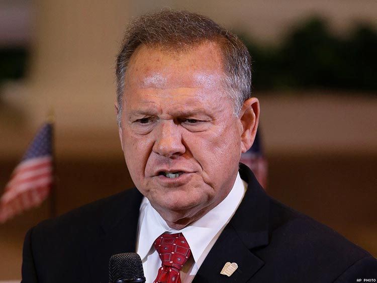 Moore leads odd by 8 points in new poll