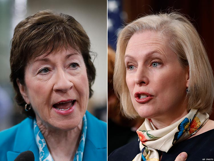 Susan Collins and Kirsten Gillibrand