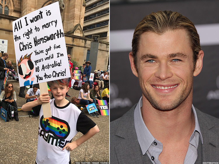 Max Townes and Chris Hemsworth